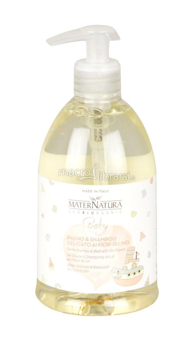 Bagno & Shampoo Delicato ai Fiori di Lino - Mater Natura