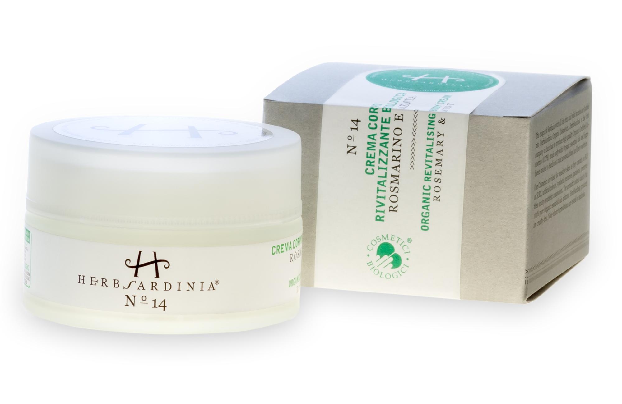 Crema Corpo Rivitalizzante Biologica Rosmarino e Menta - Herb Sardinia