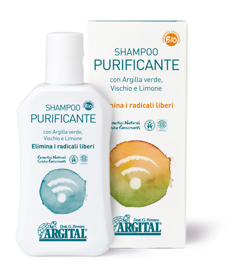Shampoo Purificante con Argilla Verde Vischio e Limone Bio 250ml - Argital